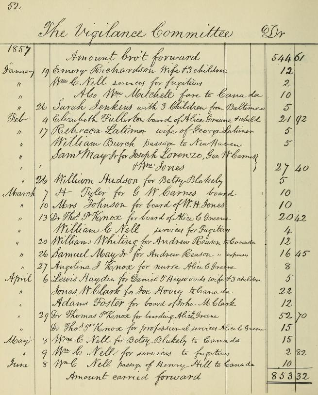 Boston Vigilance Committee Records